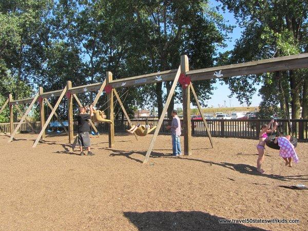 Playground swings North Beach Racine
