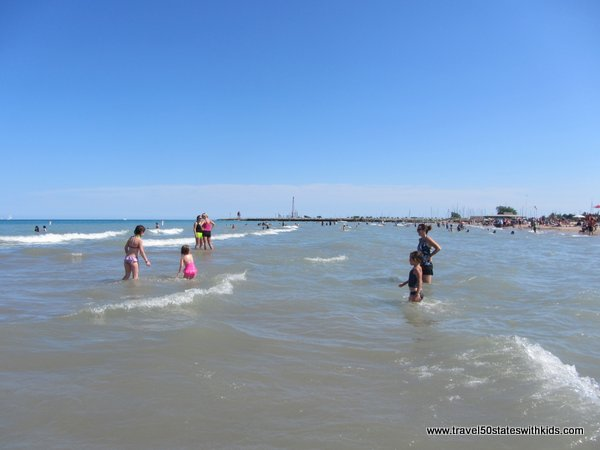 Shallow waters of North Beach Racine