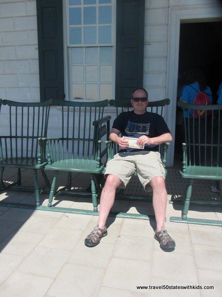 Back porch at Mount Vernon