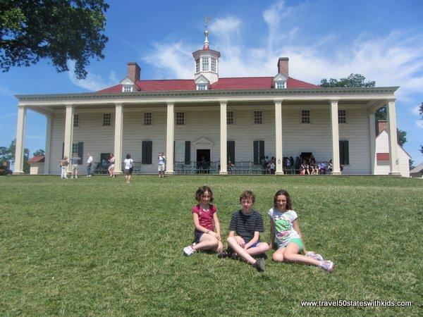 Back side of Mount Vernon