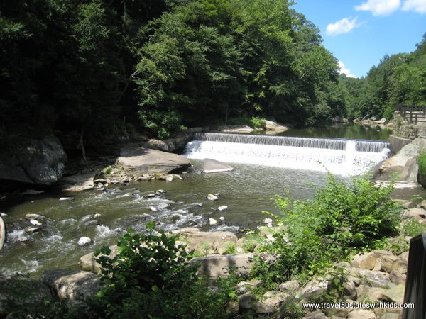 Dam on Slippery Rock Creek at McConnells Mill