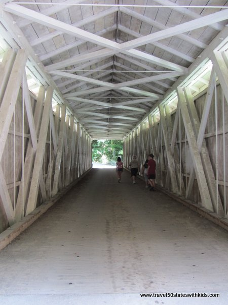 Inside the Covered Bridge at McConnells Mill State Park