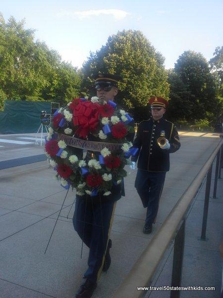Flower wreath ceremony at Arlington