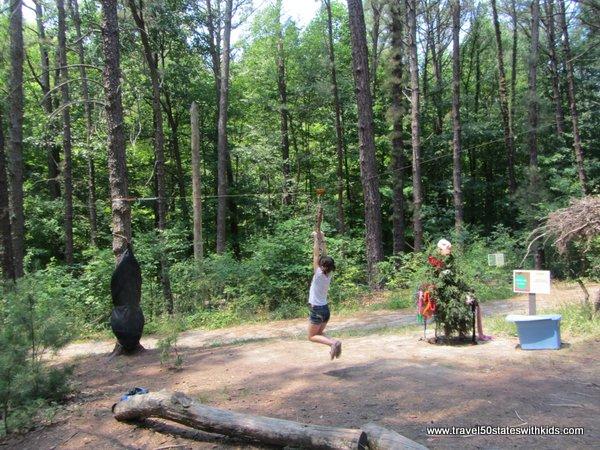 Holden Arboretum Zip Line