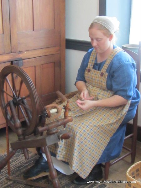 Shaker Village spinning wheel