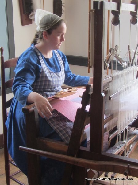 Shaker Village weaving loom