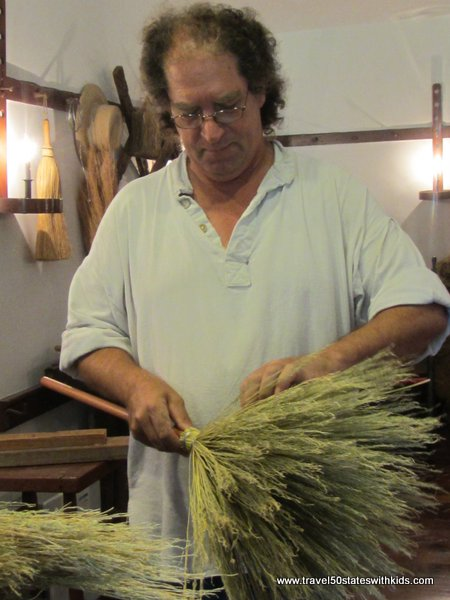 Shaker broom making