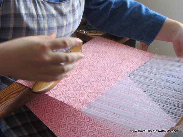 Shaker village weaving