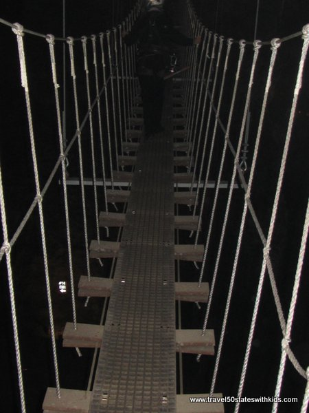 Rope bridge at Louisville MEGA Zips