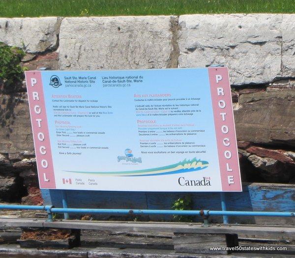 Canadian Soo Locks sign