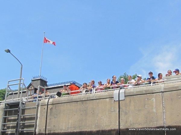Canadian school kids at the Soo Locks part 2