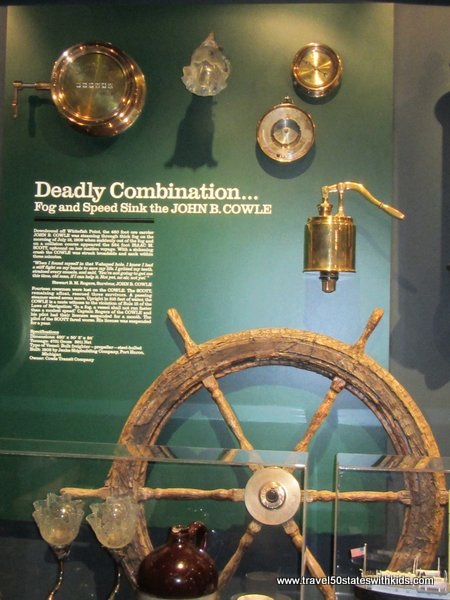 Exhibit at Great Lakes Shipwreck Museum