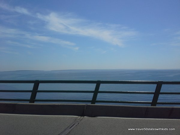 View from Mackinac Bridge