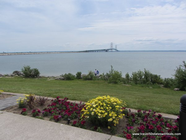 View of Mackinac Bridge from Bridge View Park