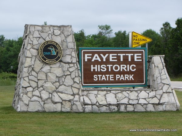 Fayette Historic Park Sign