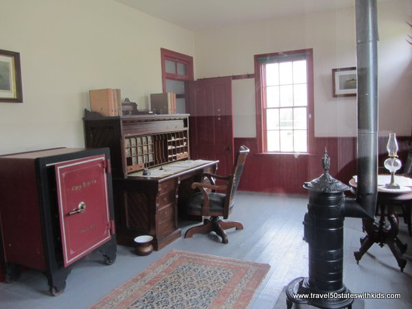 Office area at Fayette Historic Site