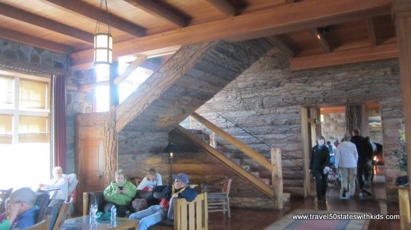 Inside Crater Lake Lodge