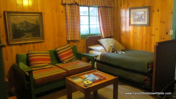 Inside a cabin at Lake of the Woods