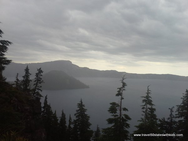 Not the view we were hoping for at Crater Lake National Park