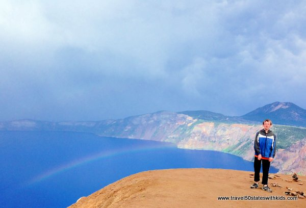 Over the rainbow at Crater Lake NAtional Park