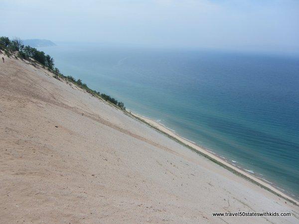 450 feet Dune Dropoff at Sleeping Bear Dunes