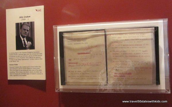 Billy Graham sermon notes IAE Kentucky Museum