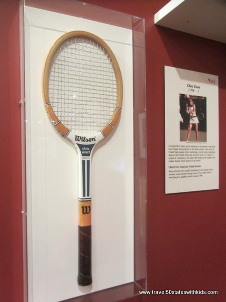 Chris Evert's tennis racket IAE Kentucky Museum