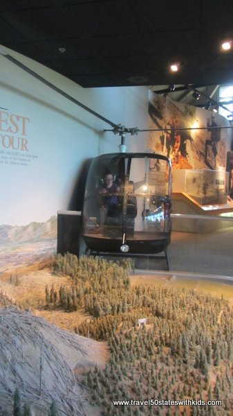 Helicopter at Forest Learning Center at Mount St. Helens