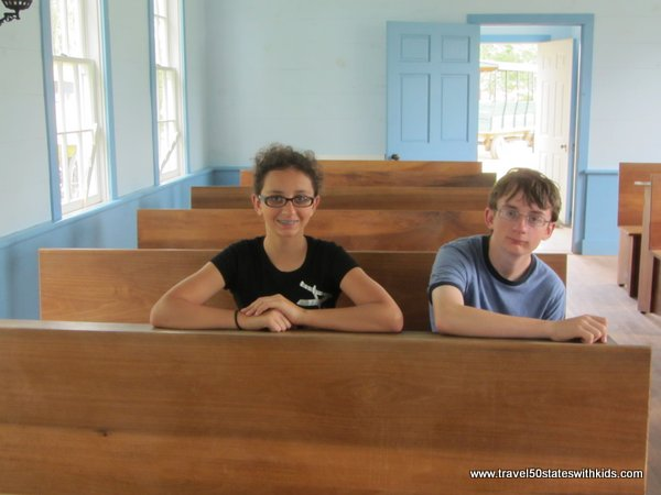 Inside the Amish Acres Schoolhouse