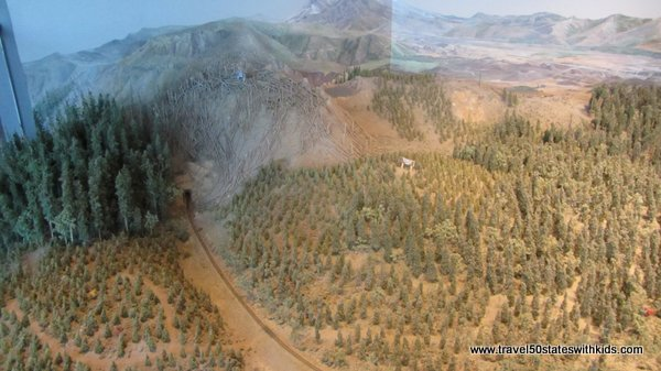 Mount St. Helens model at Forest Learning Center