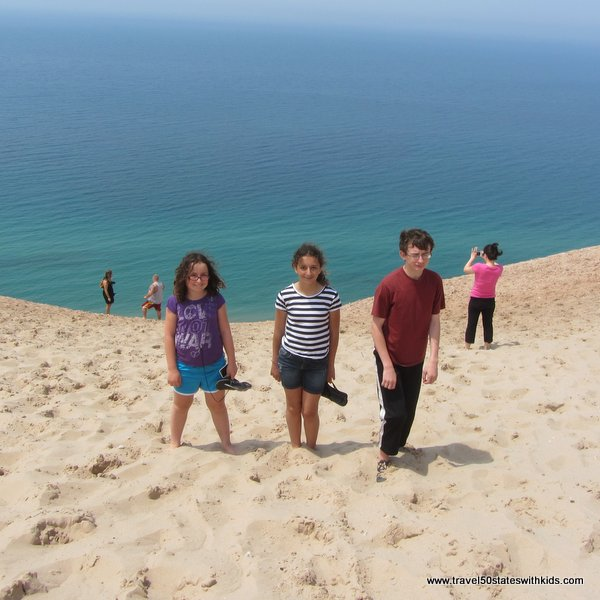 Ready to climb down the dune