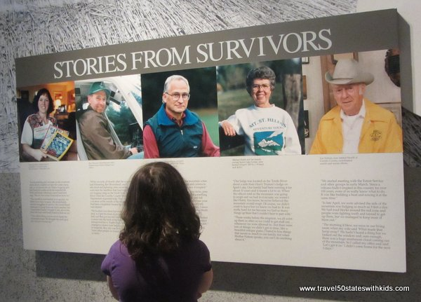 Survivor Stories at Forest Learning Center at Mount St. Helens