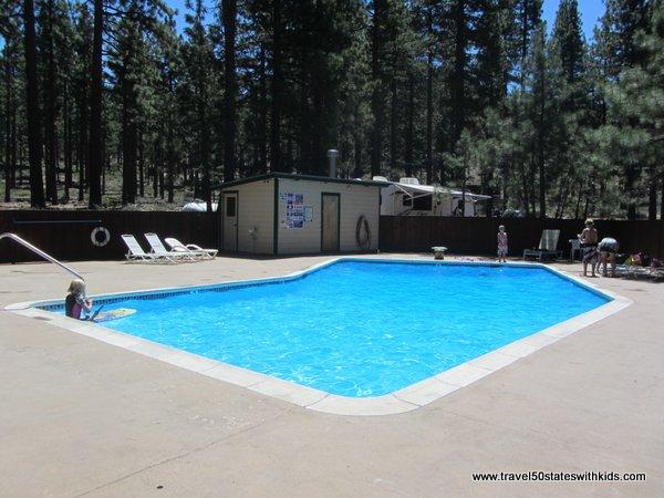 Swimming pool at Round Hill Pines Beach and Marina at Lake Tahoe