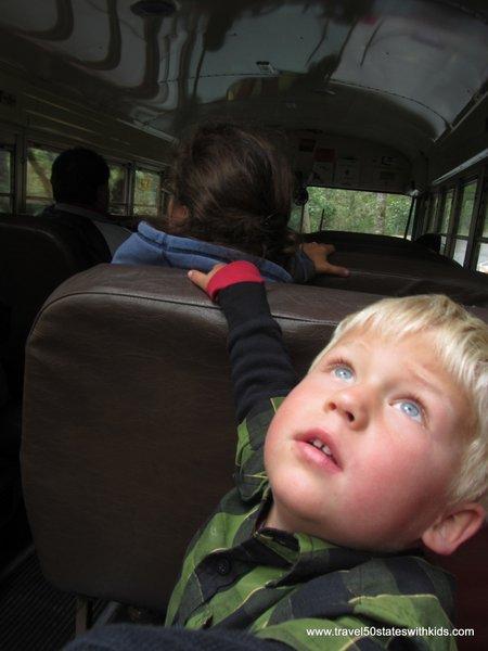 Approaching Muir Woods on CitySightseeing tour