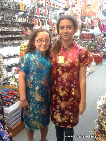 Shopping for clothes in Chinatown