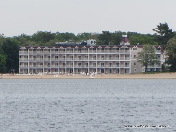 Bayshore Resort as seen from the Tall Ship Manitou
