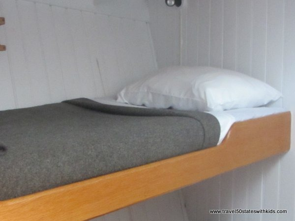 Bunk beds on Tall Ship Manitou.