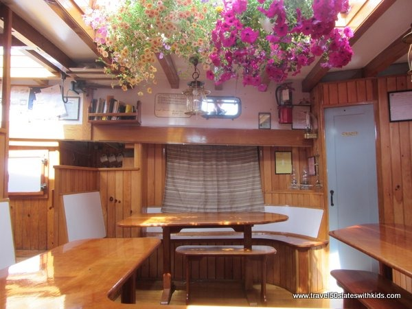 Living - dining area on Tall Ship Manitou