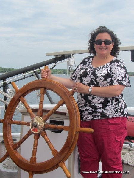 Steering the Tall Ship Manitou