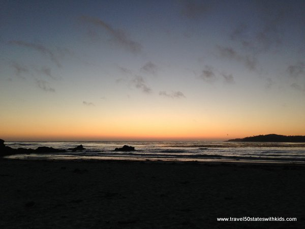 Sunset on Carmel Beach