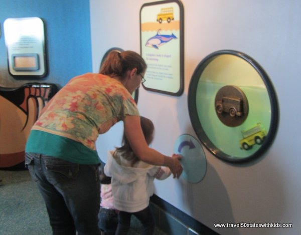 Kids area at Monterey Bay Aquarium