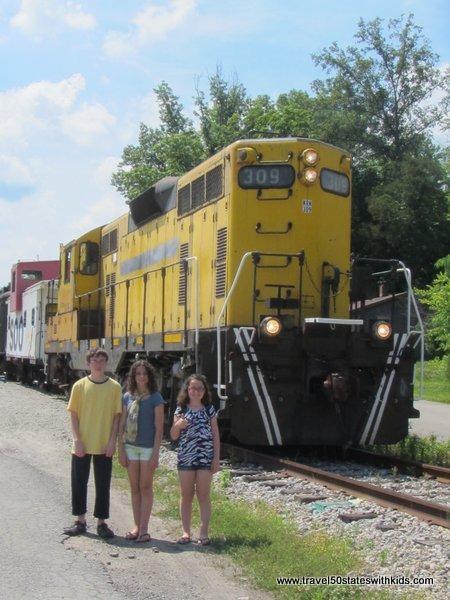 Kids at the Kentucky Railway Museum