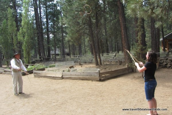 Ring tossing at High Desert Museum