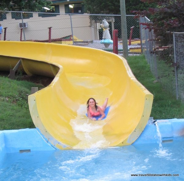 Waterslide at Jellystone Mammoth Cave
