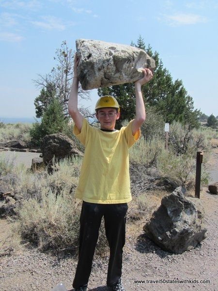 Large pumice rock at Lava Beds NM