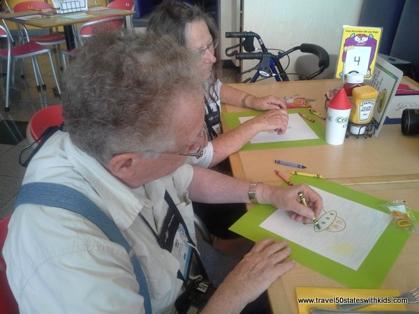 Coloring at the Crayola Cafe