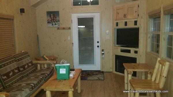 Christmas Cabin Family Room - Lake Rudolph