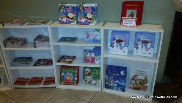 Christmas books at Santas Candy Castle