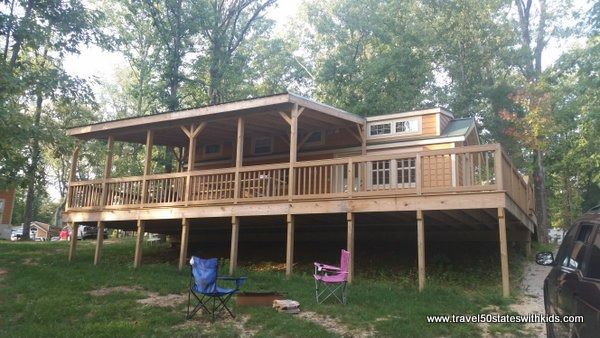 Deck of Christmas Cabin - Lake Rudolph