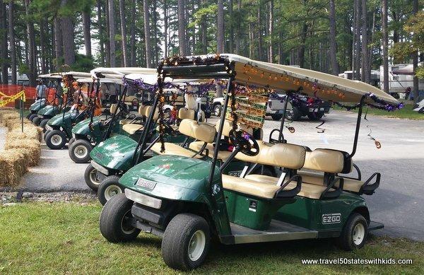Decorated golf carts - Lake Rudolph